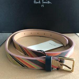 Paul Smith Leather Belt Harrod's Receipt 85 NWT